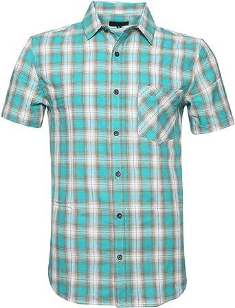 NUTEXROL Camisas de Hombre Camisa a Cuadros Camisas de Vestir Camiseta Hermosa, Casual, Cómodo y Moderno para Verano, de Manga Corta, Varios Estilos y Colores(Cada Estilo Tiene 6 Tallas): Amazon.es: Ropa y