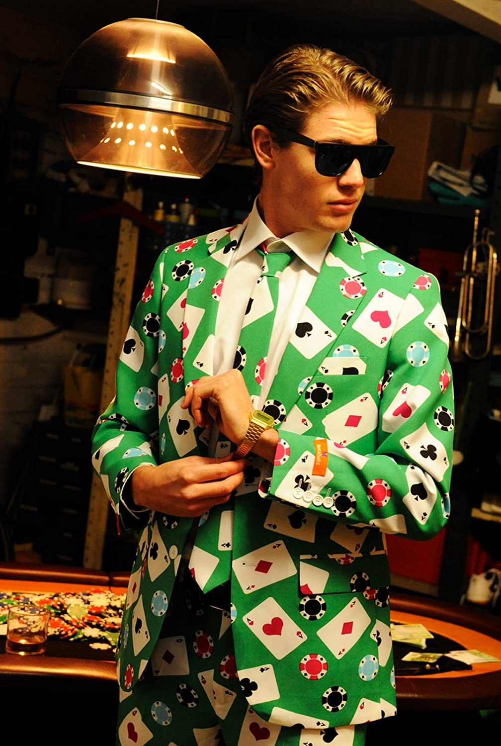 Opposuits 0199895-0011-EU46 - Casino / Poker Face Fancy Dress Costume / Outfit / Suit: Amazon.co.uk: Toys & Games