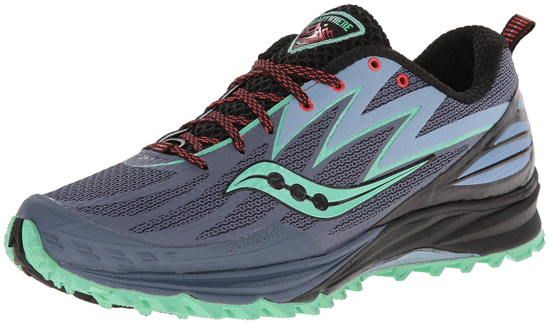 Saucony Women's Peregrine 5 Trail Running Shoe B00KPU14KK 6.5 B(M) US Grey/Mint/Purple