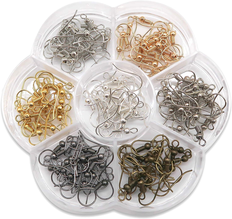 Silver coloured Earring Hooks 18mm UK Seller