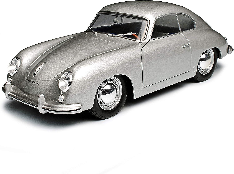 Porsche 356 Urmodell Coupe Silber 1948-1955 1//18 Solido Modell Auto mit individiuellem Wunschkennzeichen