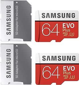 Samsung 64GB MicroSDXC EVO Plus Memory Card w/Adapter (MB-MC64GA) (2 pack)