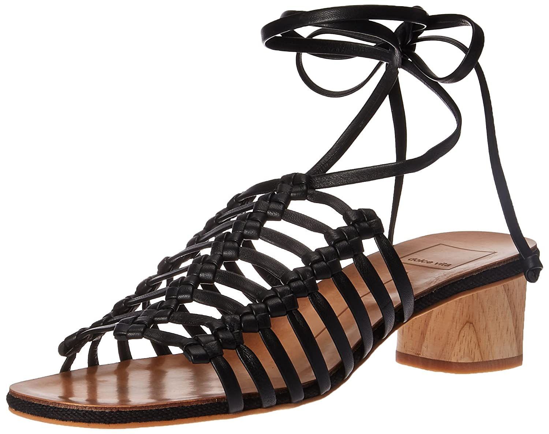 Dolce Vita Women's Kai Slide Sandal B078BR5NY8 11 B(M) US|Black Leather