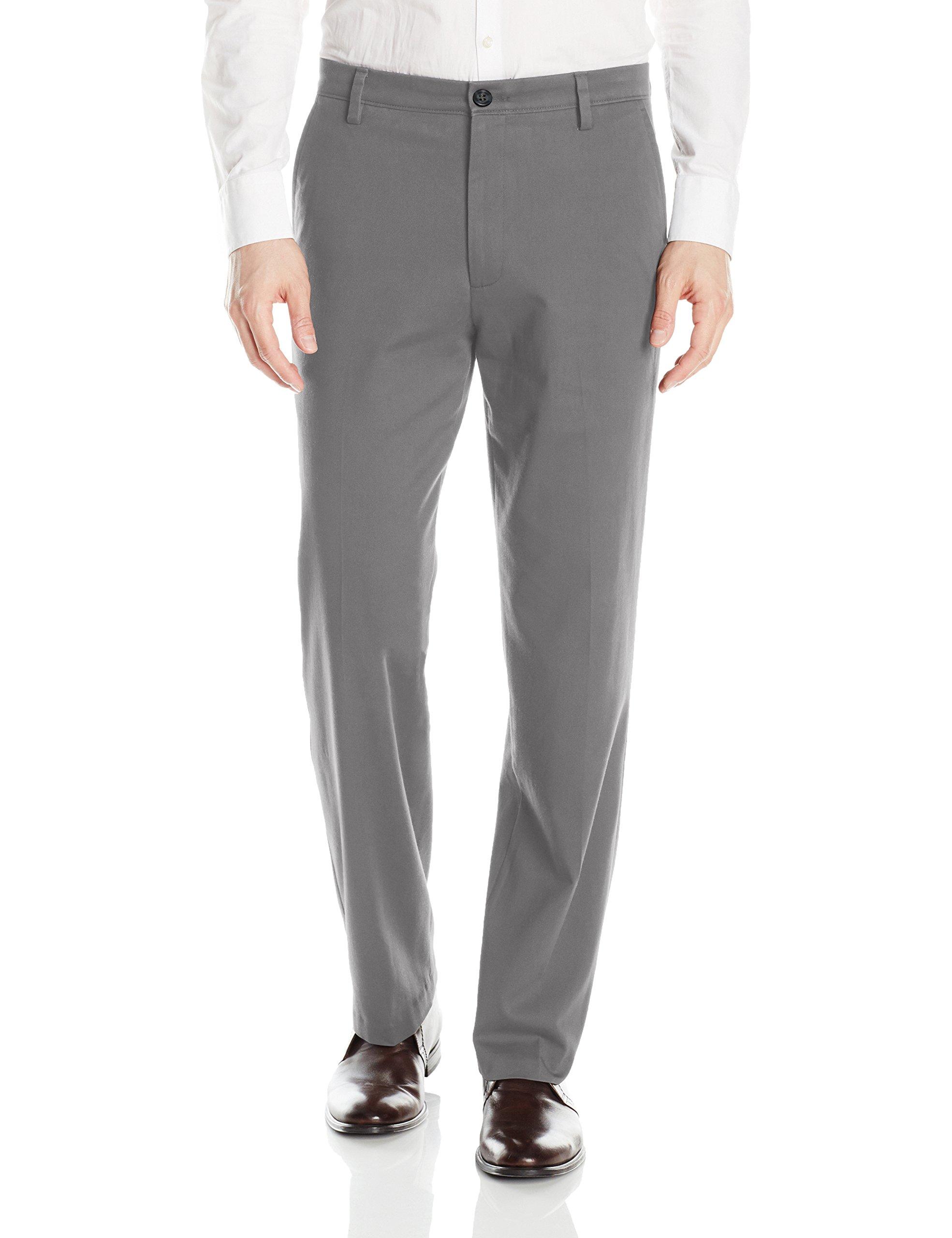 Dockers Men's Classic Fit Easy Khaki Pants D3, Burma Grey (Stretch), 34 32