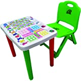 Surety For Safety Kids Study Table & Chair (Green)