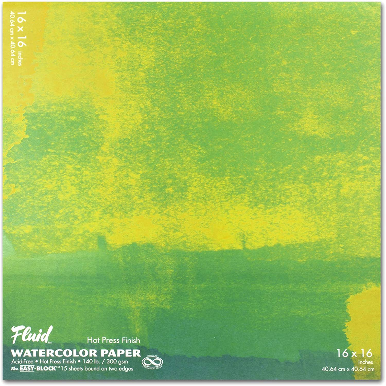 Speedball 880046 Fluid Artist Watercolor Paper Block 4x6 White Cold Press