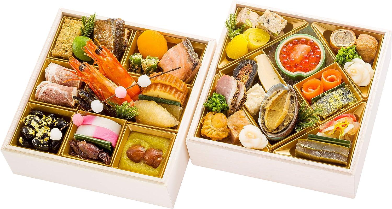 富山 千里山荘 おせち料理 2021 二段重 37品 盛り付け済み 冷凍おせち 約2人前 お届け日:12月30日
