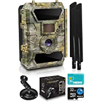 CreativeXP LTE 4G Cellular Trail Cameras – Outdoor WiFi Full HD Wild Game Camera with Night Vision for Deer Hunting, Security - Wireless Waterproof and Motion Activated – 32GB SD Card + Sim Card