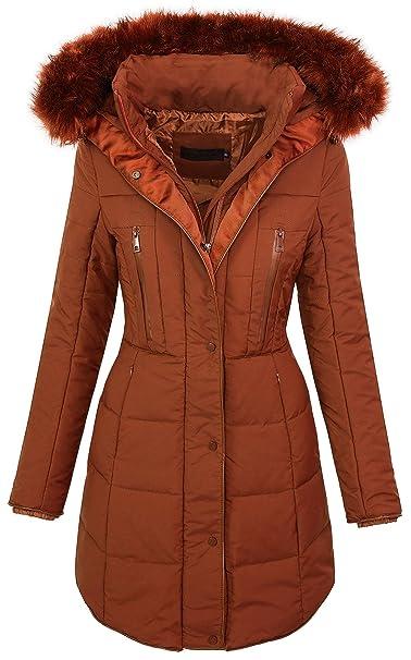 Giacca da donna con vera pelliccia, invernale, con cappuccio D 204