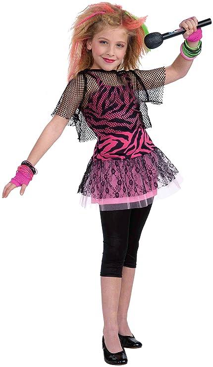 amazon com forum novelties 80 s rock star child girl s costume