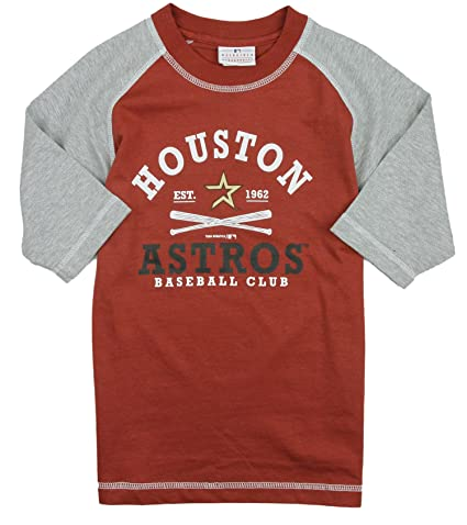 factory authentic ac908 ccc7d Outerstuff Houston Astros MLB Little Boys and Big Boys Baseball Shirt -  Brick Red
