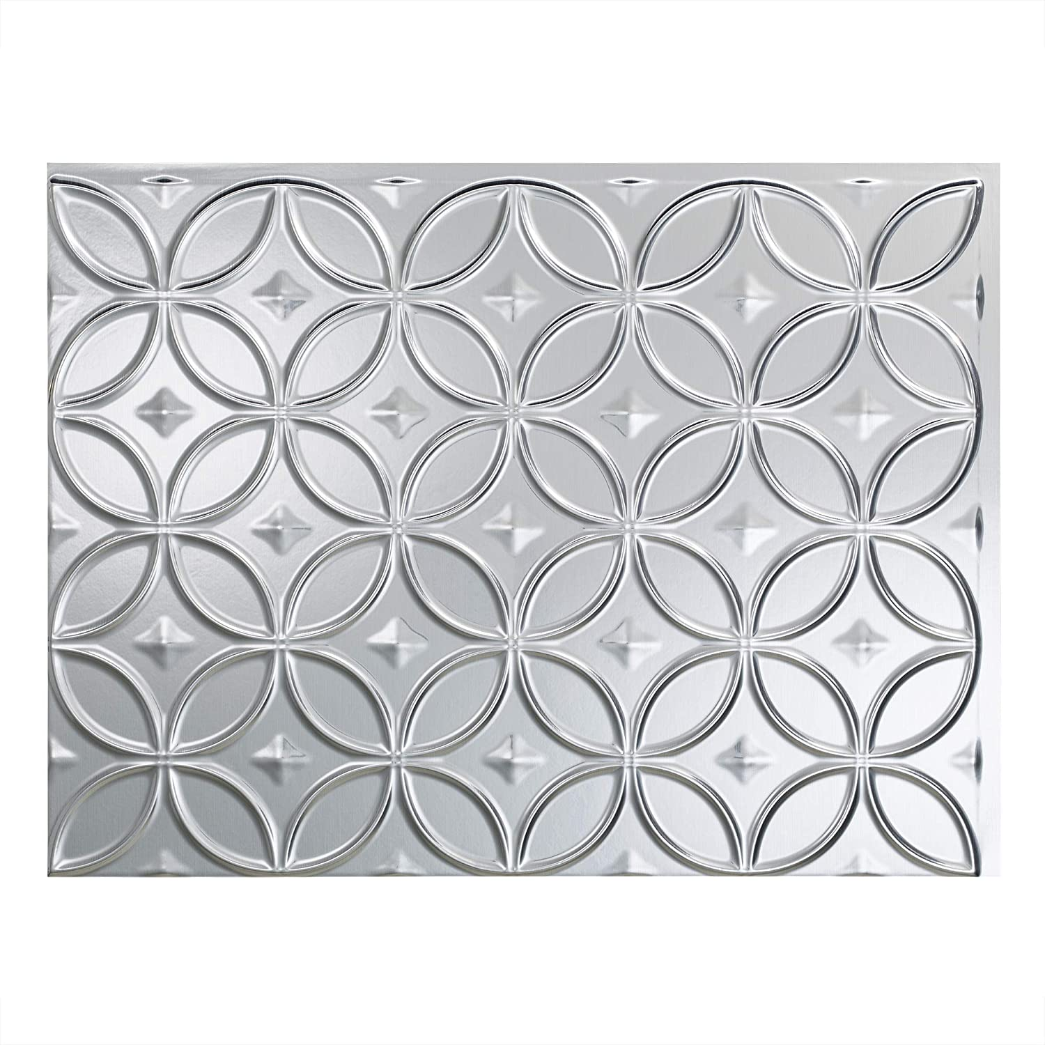 - FASÄDE Rings Decorative Vinyl Backsplash Panel In Brushed Aluminum