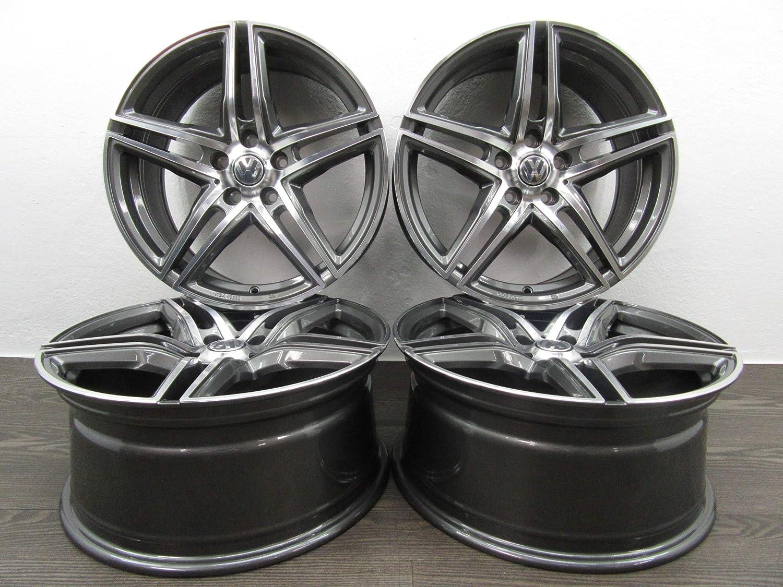 4 Llantas de aluminio Borbet XRT 18 pulgadas apto para VW Beetle Golf 5 6 7 Passat T-Roc Tiguan Touran nuevo: Amazon.es: Coche y moto