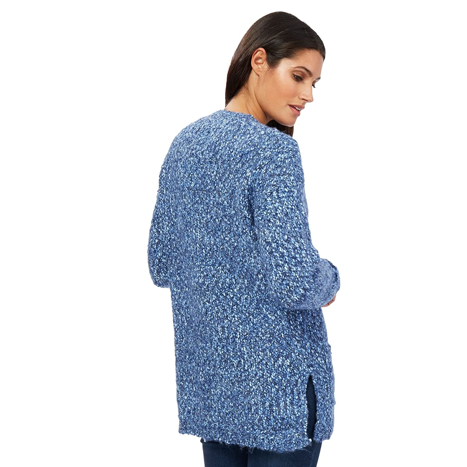 Debenhams Mantaray Womens Blue Textured Boucle Cardigan From 10 ...