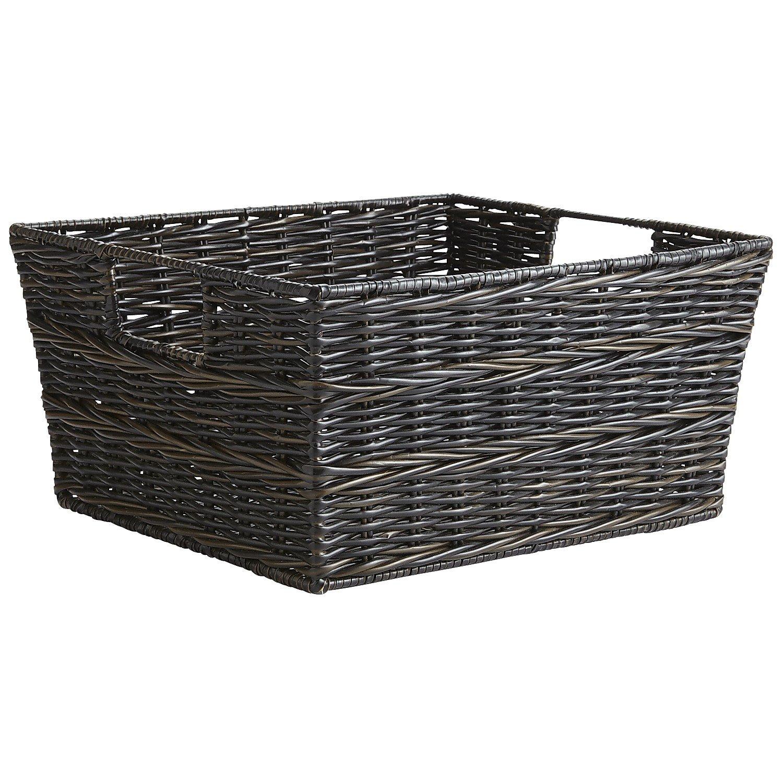 Pier 1 Imports Collin Mocha Hand-Woven Medium Shelf Storage Basket