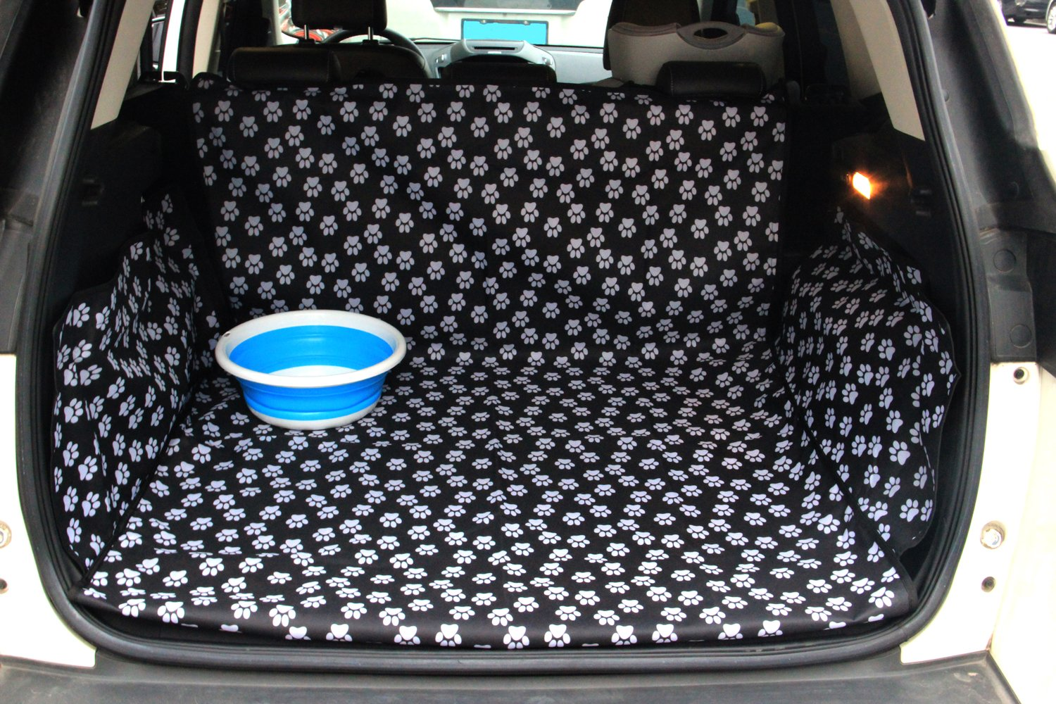Oxford Trunk Liner - Car SUV Van Cargo Cover - Waterproof Floor Mat for Dogs Cats