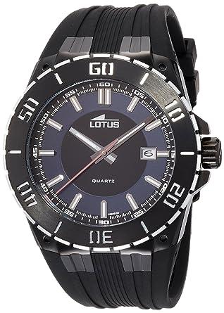 Lotus Reloj Analógico para Hombre de Cuarzo con Correa en Caucho 15806_2: Amazon.es: Relojes