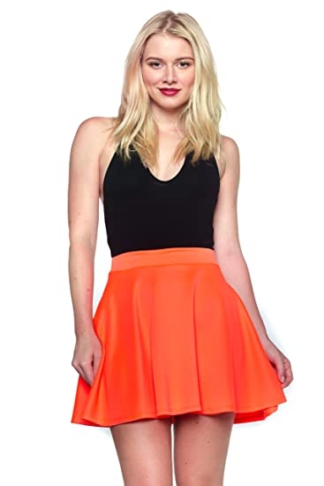 d3d6ddb7e7c Image Unavailable. Image not available for. Color  J2 LOVE Made in USA  Flared Mini Skater Skirt ...