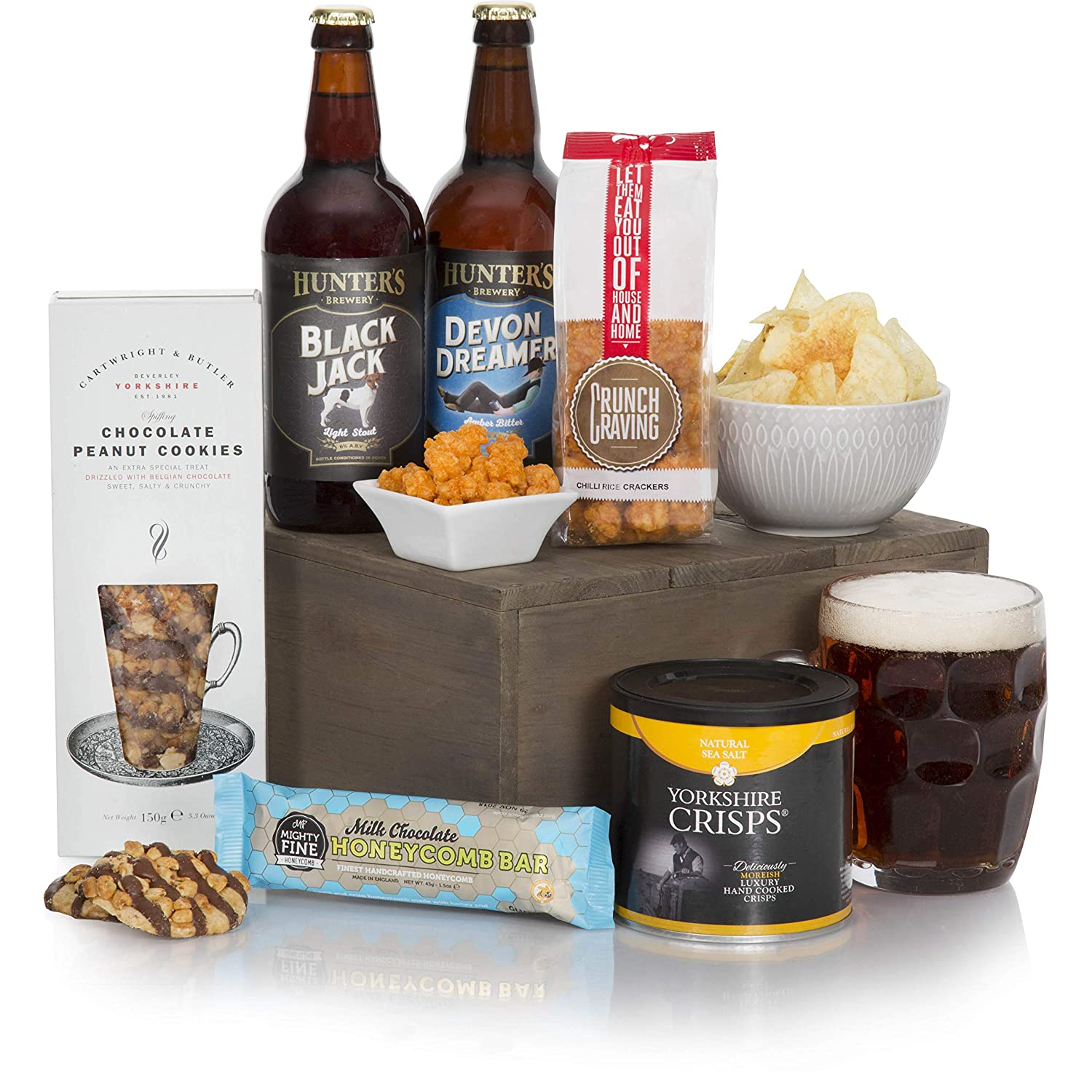 Craft Beer & Snacks Hamper - Real Ale Beer and Food Hampers and Gift  Baskets For Men - Birthday Gift Ideas For Men