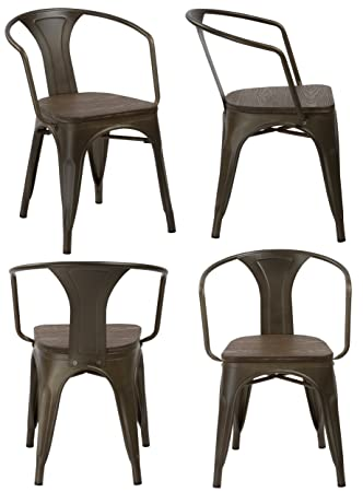 Excellent Amazon Com Btexpert Industrial Distressed Metal Antique Squirreltailoven Fun Painted Chair Ideas Images Squirreltailovenorg
