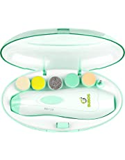Bubos Baby Nail File - Safe Baby Nail Clippers for Newborn or Toddler Toes and Fingernails - Care, Polish and Trim - Girls and Boys Accessory - Battery Operated (AA)