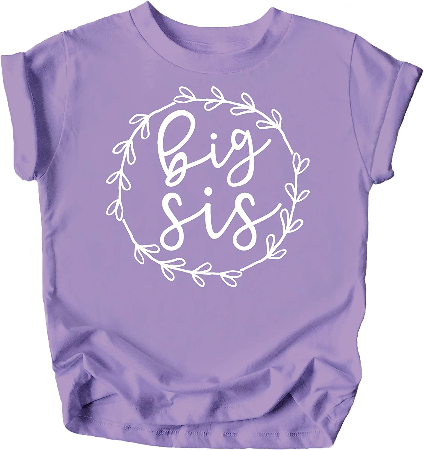 Olive Loves Apple Big Sis Lil Sis T-Shirts and Bodysuits for Baby and Toddler Girls Sibling Outfits