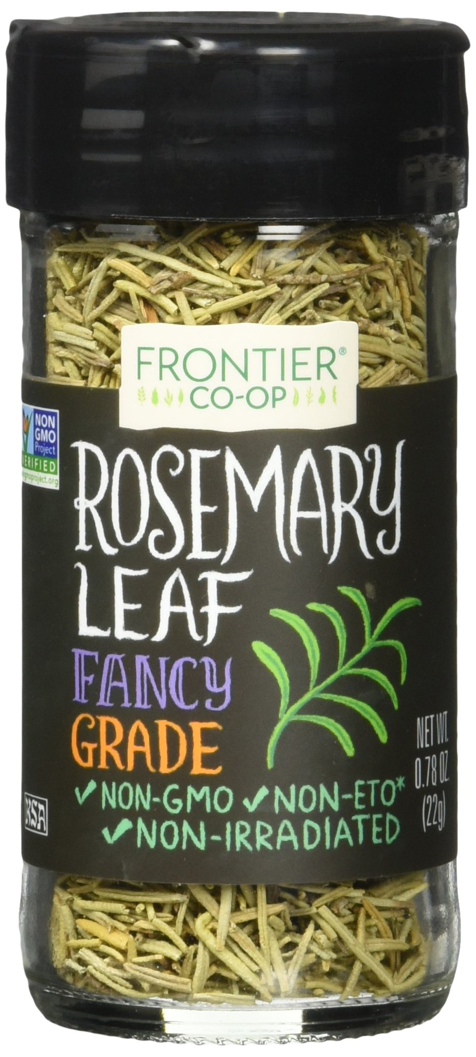 Frontier Rosemary Leaf, Whole, 0.78-Ounce Bottle (Pack of 6)