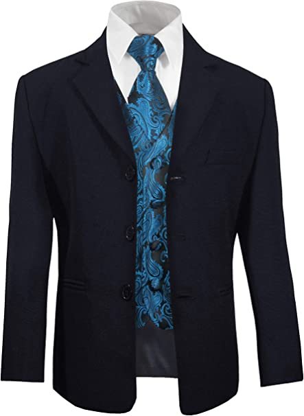 Paul Malone Jungen AnzugKinder Anzug festlich blau +