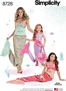 product image for Simplicity 8278 Matching Child, Misses', and Girls Mermaid Costume Sewing Pattern, 3 Costumes
