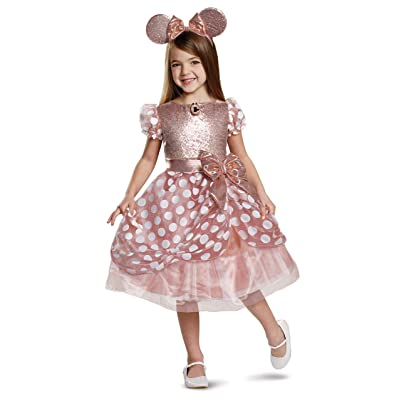 Disguise - Rose Gold Minnie Deluxe Child Costume: Toys & Games [5Bkhe0707240]
