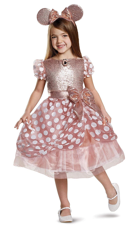 Disfraz de Minnie de Oro Rosa niños, Dorado, Small (Ize/4-6X ...