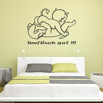Lieblich WT481A Wandtattoo Teuflisch Gut! Schlafzimmer Sex Teufelchen Motiv  Wanddekoration Aufkleber Sticker B140cm X H105cm