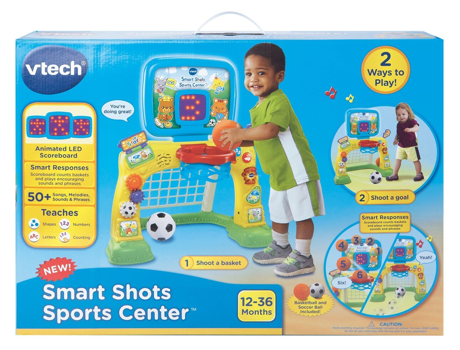 Bright Colors and Cute Design Electronic Smart Shots Sports Center, 50+ Songs, Multicolor by VTech (Image #7)