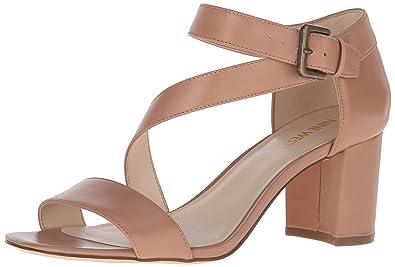 bb5f9803a22 Nine West Women s Talen Leather Dress Sandal Natural 11 ...