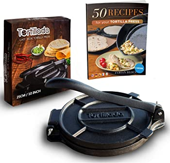 Tortillada Premium 10-Inch Cast Iron Tortilla Maker