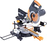 Evolution RAGE3+ Multipurpose Sliding Mitre Saw with Accessory Pack, 230 V, 255 mm