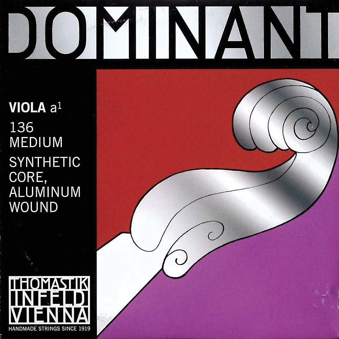 Dominant 15''-16'' Viola A String - Medium Gauge - Aluminum Wound Perlon Core - Thomastik Infeld