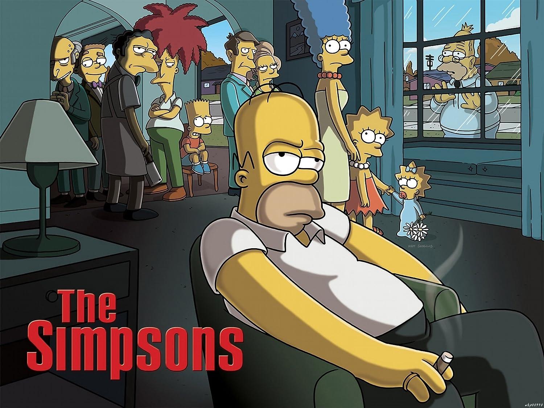 The Simpsons Sopranos Parody Movie 32 X24 Art Posters Wbp00990 Amazon Co Uk Kitchen Home