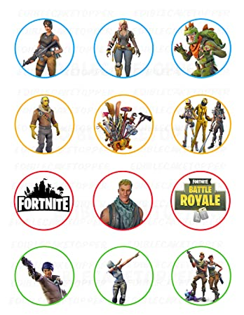 photograph about Printable Edible Cake Toppers referred to as Fornite Edible Cupcake Toppers (12 Pics) Cake Impression Icing