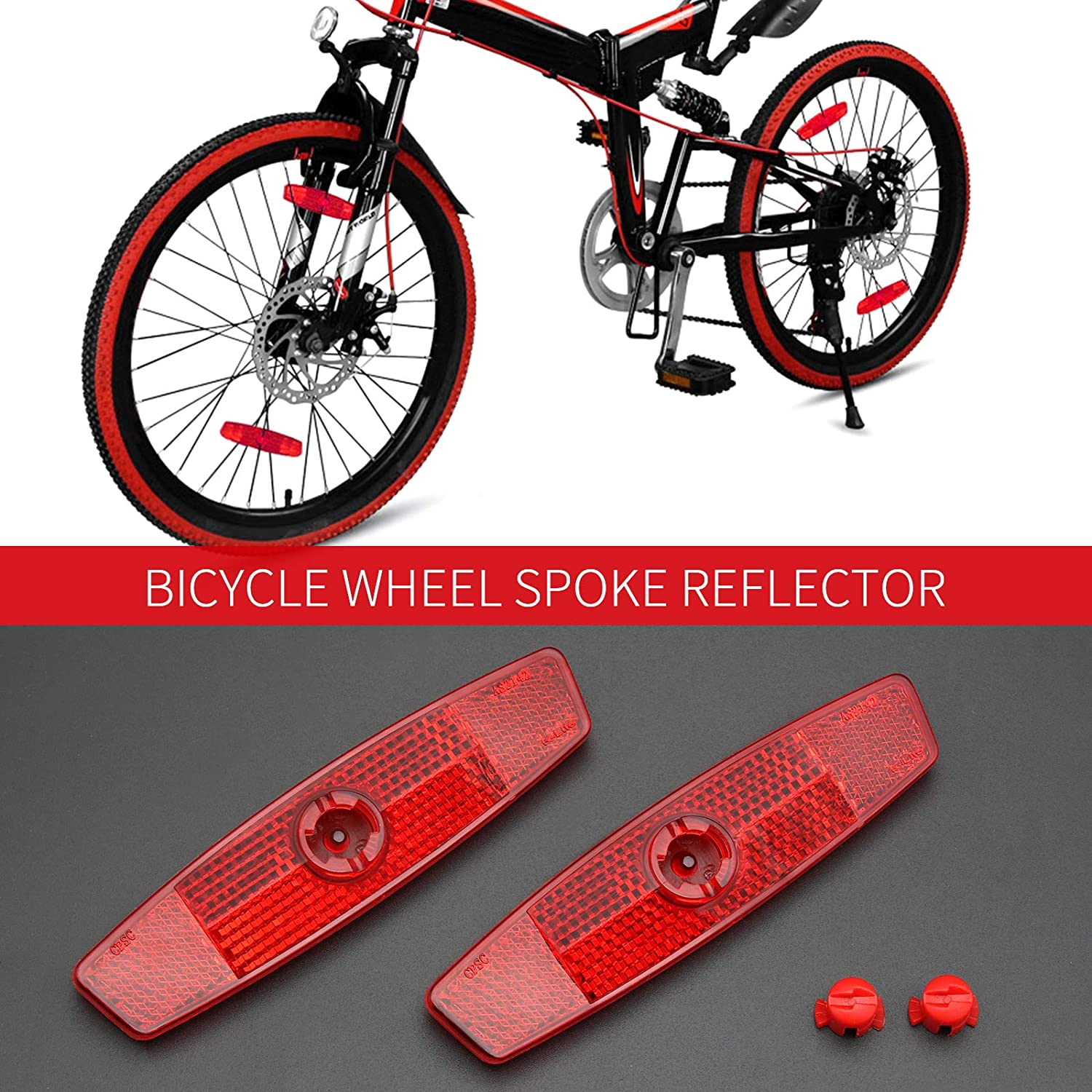 Bicycle Bicycle Reflector Too l Suitable For Motorcycles Accessory Night Red