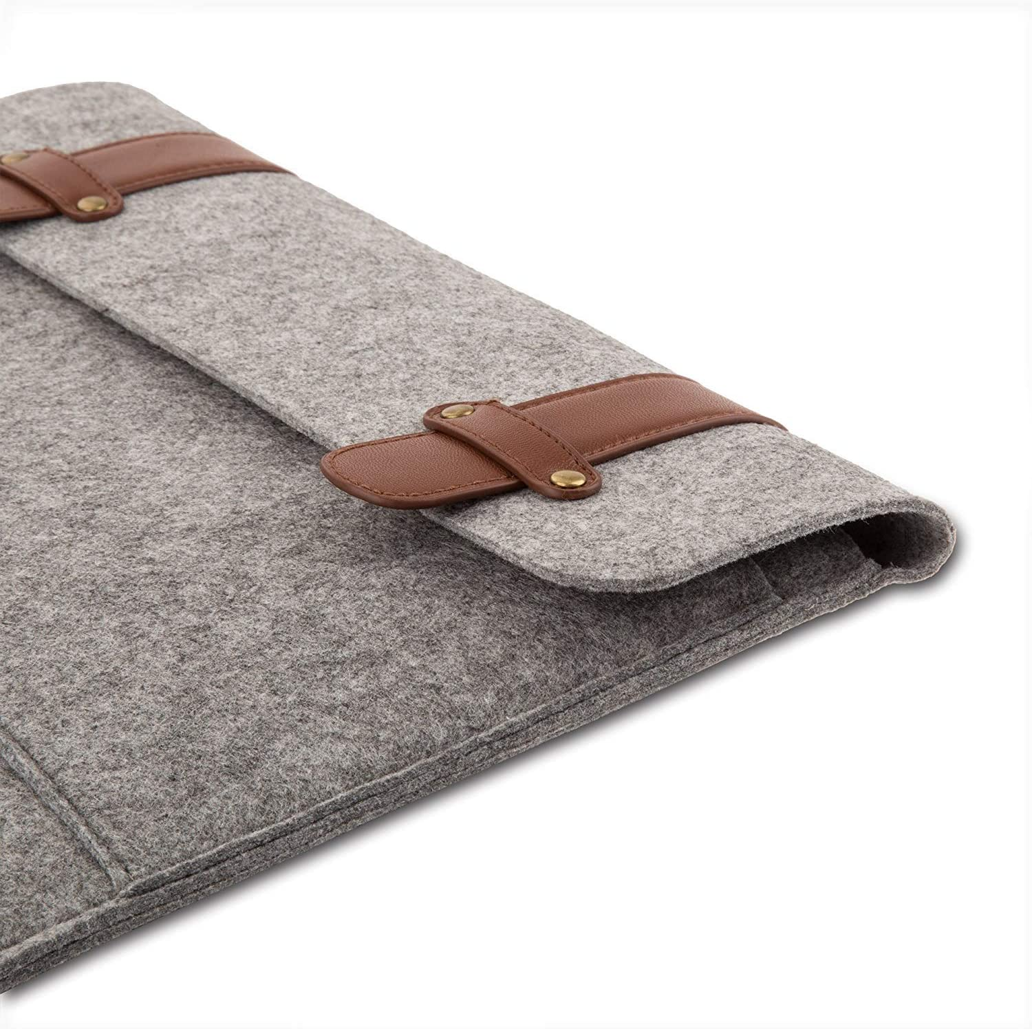 MOSISO Felt Sleeve Case Bag Cover Compatible with 2019 MacBook Pro 16 inch with Touch Bar A2141 Gray 15-15.4 inch MacBook Pro Retina A1398 15 inch MacBook Pro with Touch Bar A1990 A1707 2016-2019