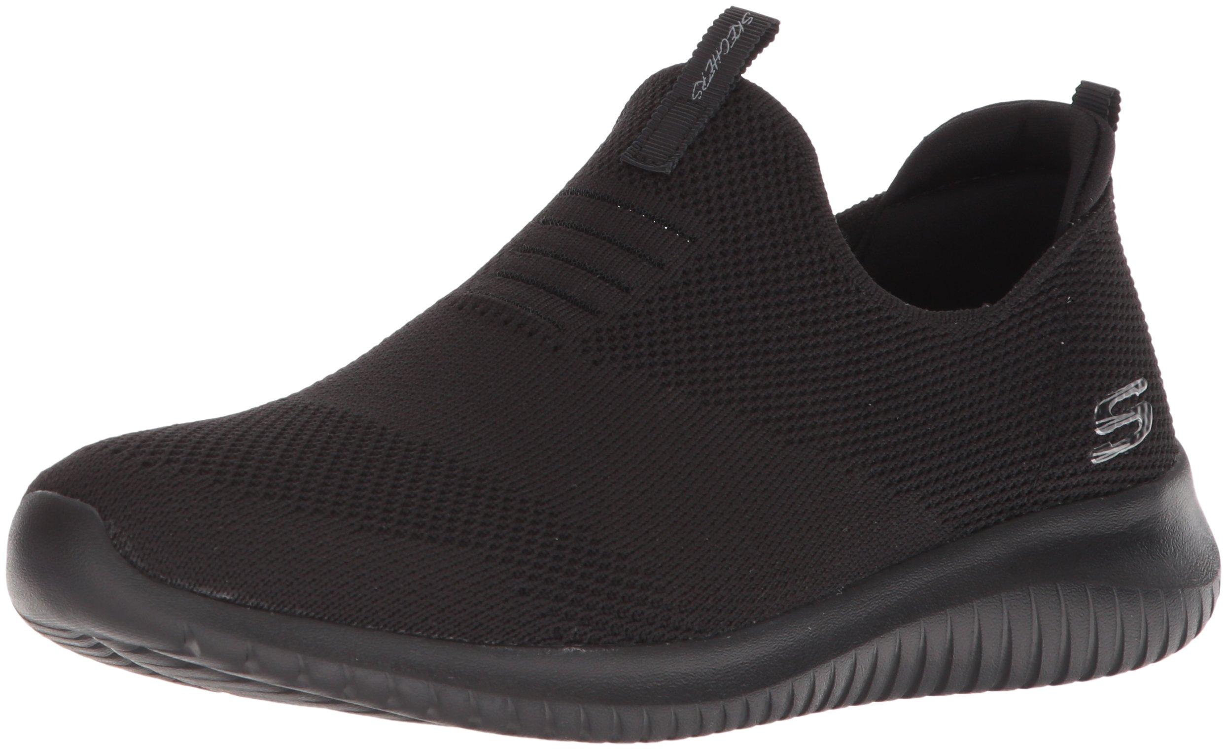 Skechers Sport Women's Ultra Flex-First Take Sneaker,Black,7.5 M US