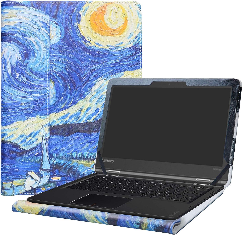 "Alapmk Protective Case Cover for 11.6"" Lenovo Flex 11 CHROMEBOOK/Lenovo N23 Yoga Chromebook/Lenovo ThinkPad 11e Yoga 6th Gen Laptop(Note:Not fit Lenovo N23 Chromebook/N23 Windows Laptop),Starry Night"