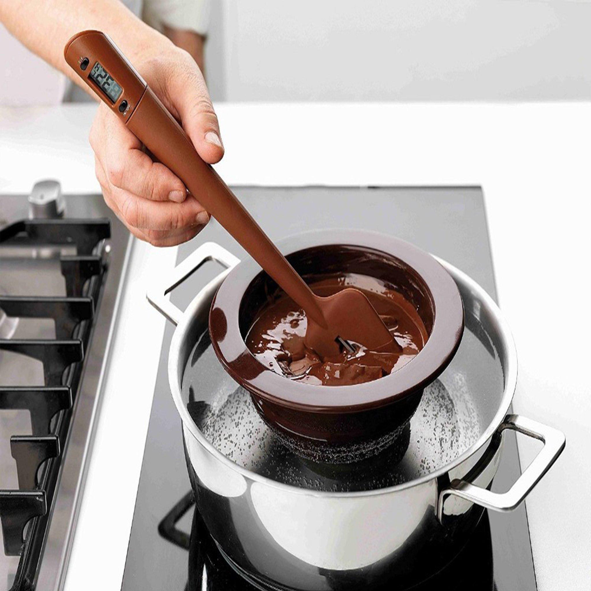 JIAYE Food Grade Silicone/Nylon Spatula Digital Thermometer Scraper for Chocolate Jams Food Cooking Baking BBQ by JIAYE INC (Image #2)