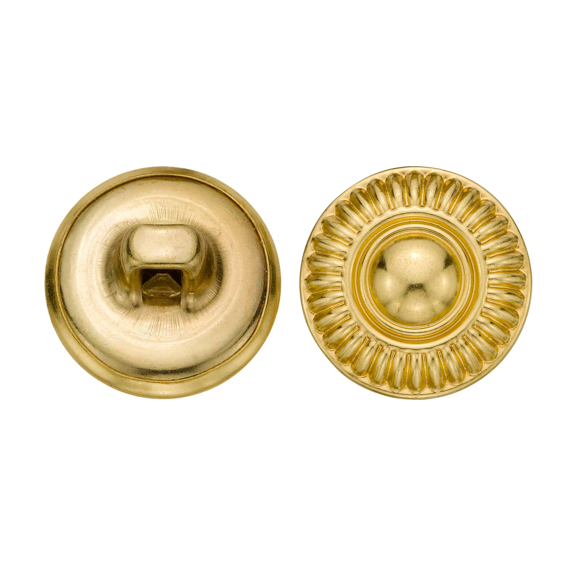 C&C Metal Products 5079 Modern Daisy Metal Button, Size 24 Ligne, Gold, 72-Pack by C&C Metal Products Corp