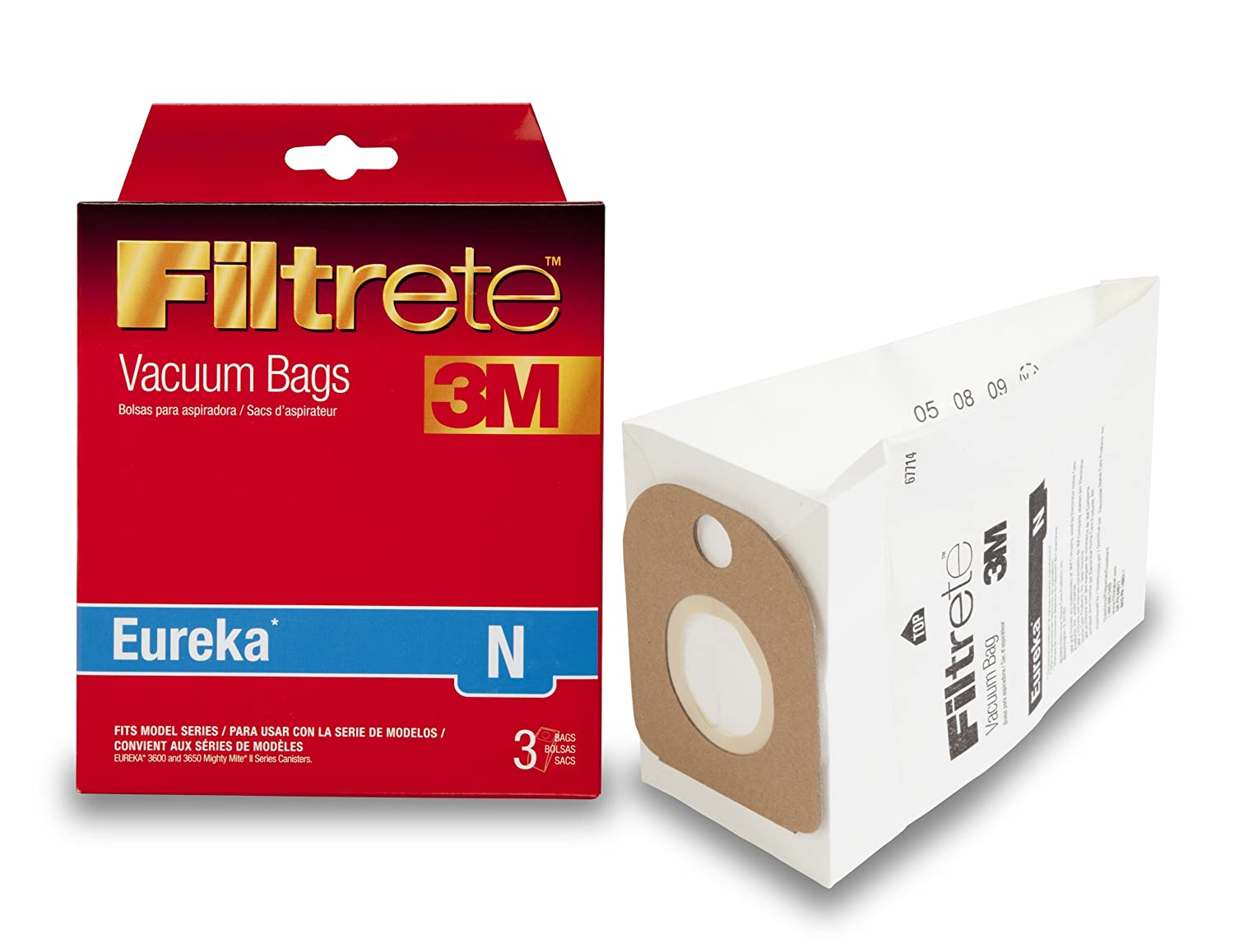 3M Filtrete Eureka N Allergen Vacuum Bag Red