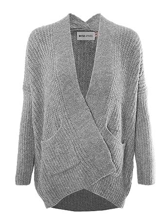 f8f8221c43ae MAYSIX APPAREL Women Stylish Cotton Cable Knit Open Sweater Long Sleeve Chunky  Cardigan W Pocket