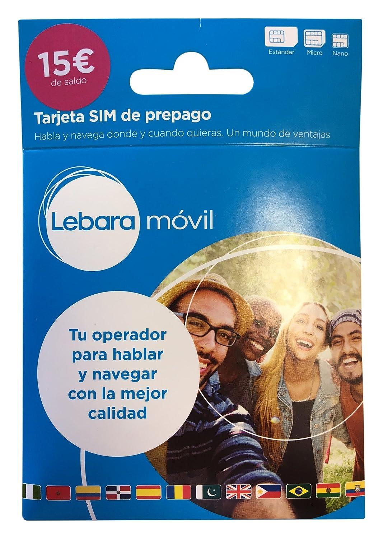 Lebara 15 - Tarjeta SIM prepago: Amazon.es: Electrónica