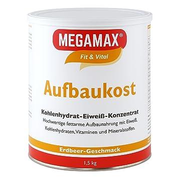 MEGAMAX - Aufbaukost - Suplemento para ganar peso y masa muscular - Fresa - Solo un