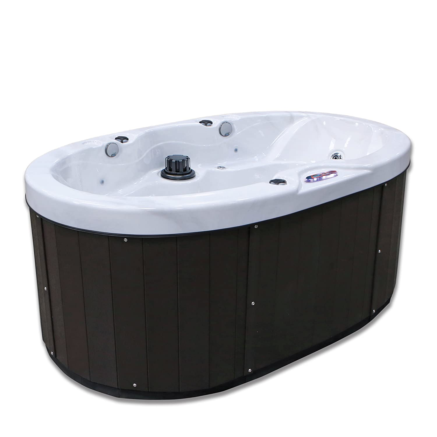 Amazon.com : American Spas AM-420B 2-Person Hot Tub 20 Jets Plug-In ...